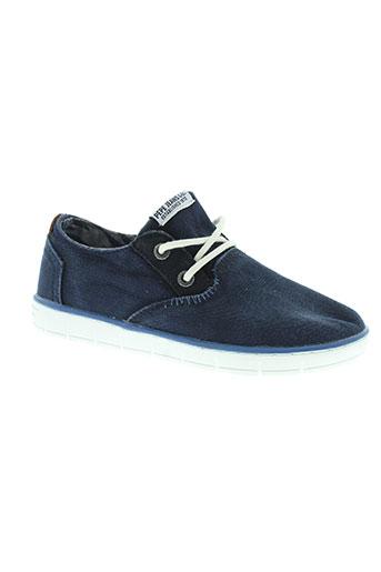pepe et jeans baskets garcon de couleur bleu