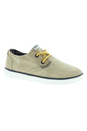 pepe jeans chaussures garçon de couleur beige