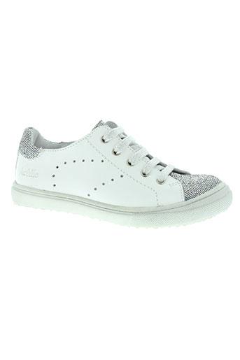 achile chaussures fille de couleur blanc