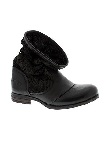 bunker boots femme de couleur noir