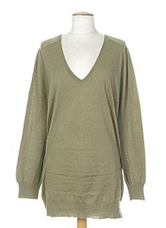 Pull tunique vert DIABLESS pour femme