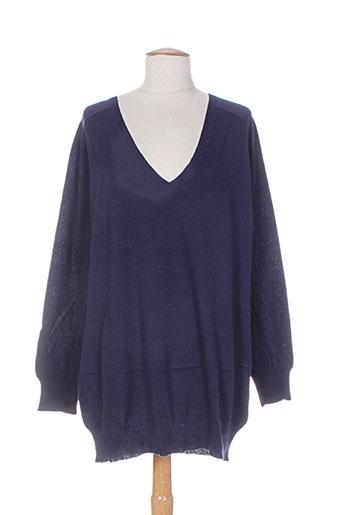 Pull tunique bleu DIABLESS pour femme
