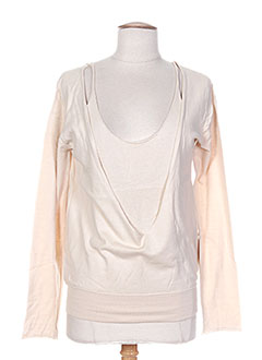 Pull col rond beige DIABLESS pour femme