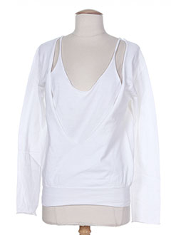 Pull col rond blanc DIABLESS pour femme