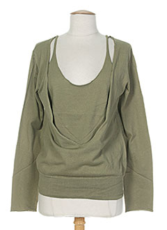 Pull col rond vert DIABLESS pour femme