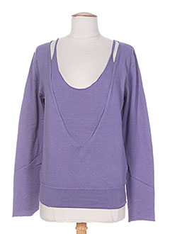 Pull col rond violet DIABLESS pour femme