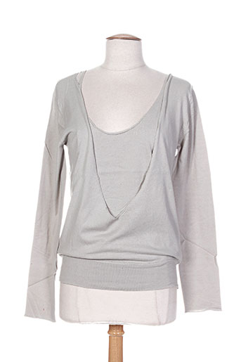 Pull col rond gris DIABLESS pour femme