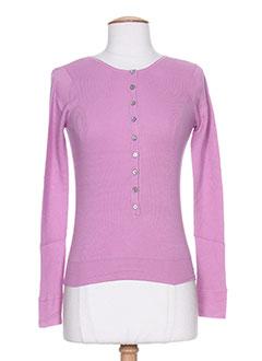 T-shirt manches longues violet DIABLESS pour femme