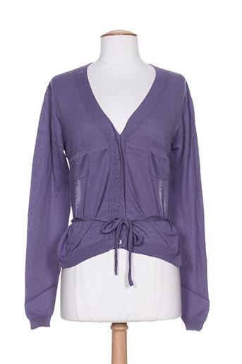 Gilet manches longues violet DIABLESS pour femme