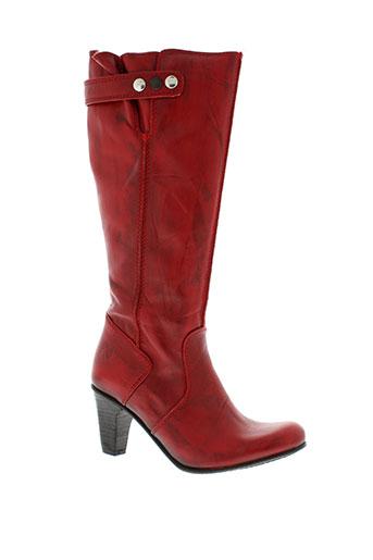 u roads chaussures femme de couleur rouge