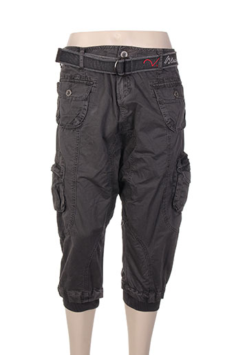 black de la rosa pantalons femme de couleur gris