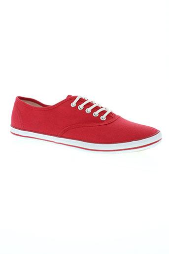 reservoir shoes chaussures homme de couleur rouge