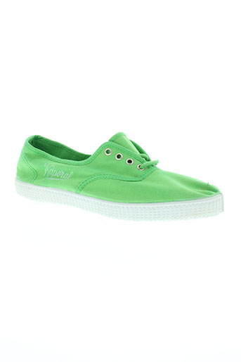kaporal chaussures garçon de couleur vert