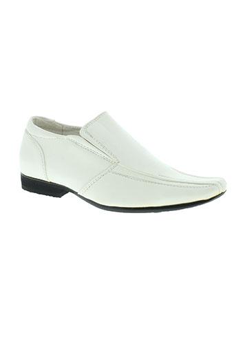 galax chaussures garçon de couleur blanc