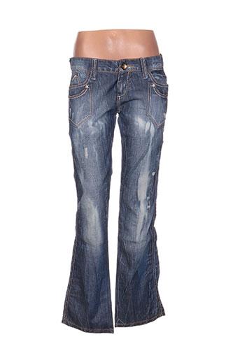 Jeans coupe droite bleu CIPO & BAXX pour femme