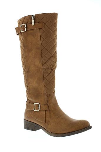 ella et lux bottes femme de couleur marron