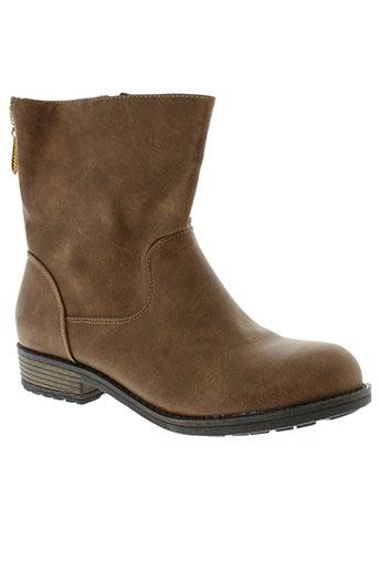 c'm paris chaussures femme de couleur marron