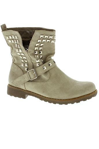 foli et folio boots femme de couleur beige