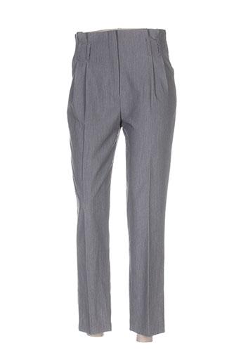 jus d'orange pantalons femme de couleur gris