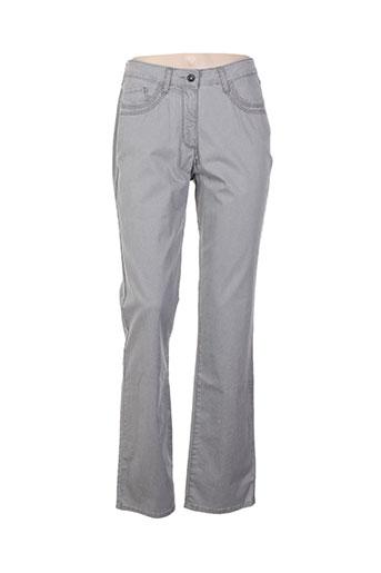 claude de saivre pantalons femme de couleur gris