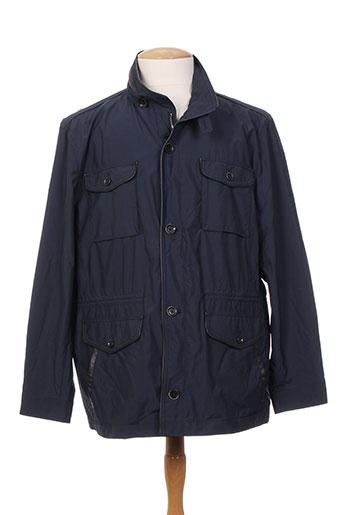 benny les hommes manteaux homme de couleur bleu