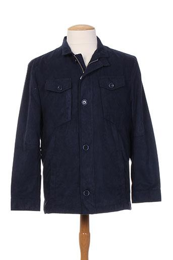 Veste casual bleu BENNY LES HOMMES pour homme