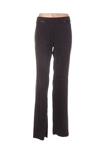 claudia gil pantalons femme de couleur marron