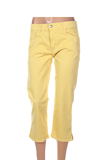 pioneer pantacourts femme de couleur jaune