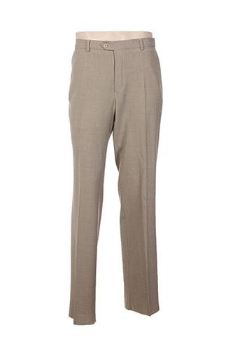 harold pantalons homme de couleur beige