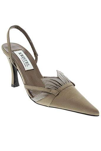 kristel chaussures femme de couleur marron