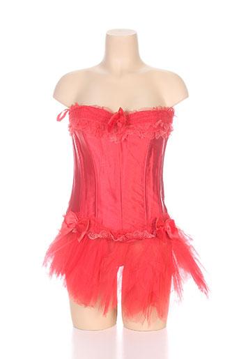 zhen lingerie femme de couleur rouge