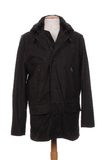 m.e.n.s manteaux homme de couleur marron
