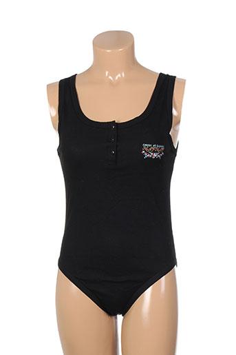 naf naf t-shirts femme de couleur noir