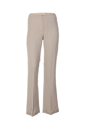 yumi pantalons femme de couleur beige