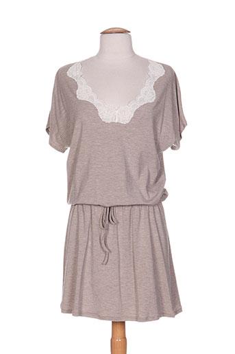 antigel chemises et de et nuit femme de couleur beige