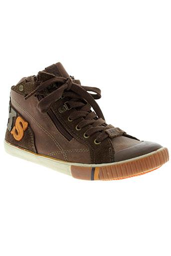 ikks chaussures garçon de couleur marron