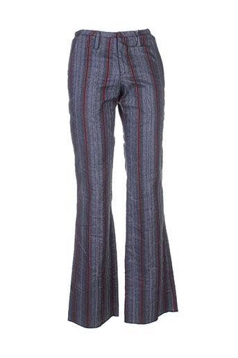 kenzo pantalons femme de couleur bleu
