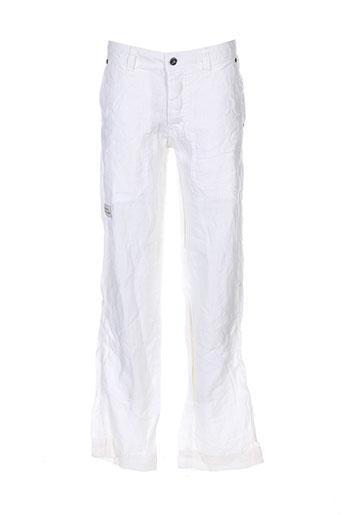 deeluxe pantalons garçon de couleur blanc