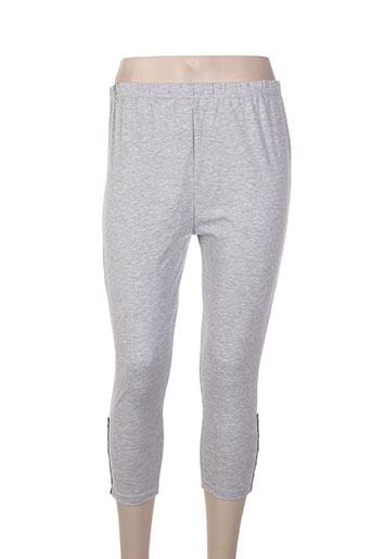 nadia pantalons femme de couleur gris