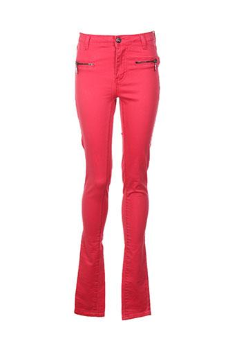 Pantalon casual rouge VILA pour femme