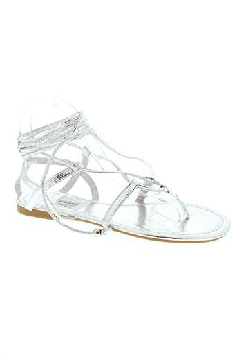 la bottine souriante chaussures femme de couleur gris