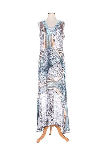 leslie robes femme de couleur bleu