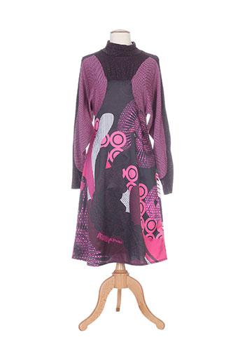 amarillolimon robes femme de couleur violet
