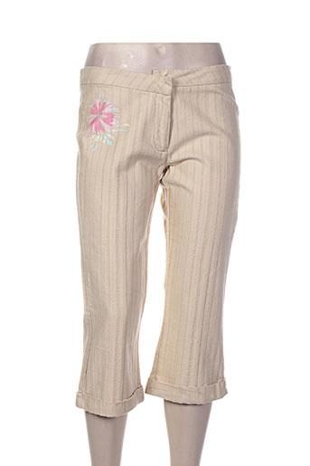 school rag pantacourts femme de couleur beige