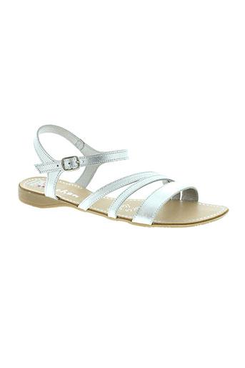 vachon sandales et nu et pieds femme de couleur gris