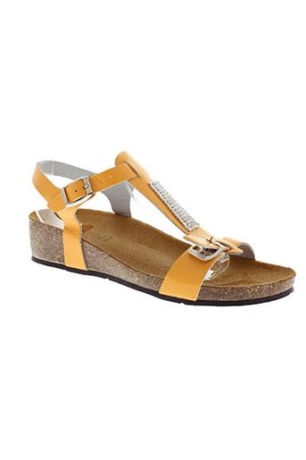 bellini sandales et nu et pieds femme de couleur orange