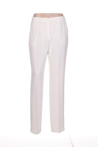 villa bleue pantalons femme de couleur blanc