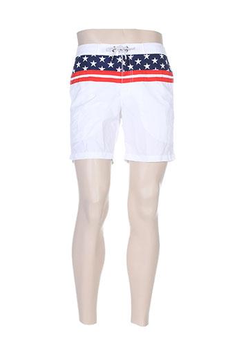 kiwi maillots de bain homme de couleur blanc