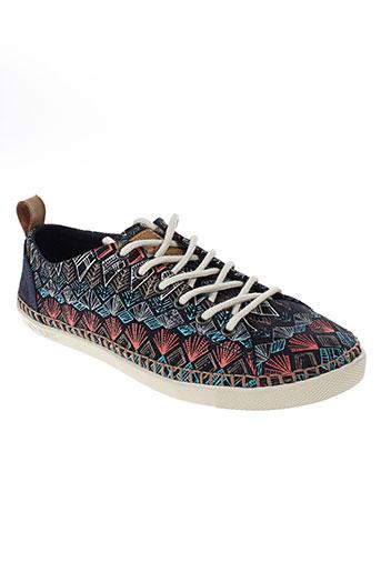 palladium chaussures femme de couleur bleu