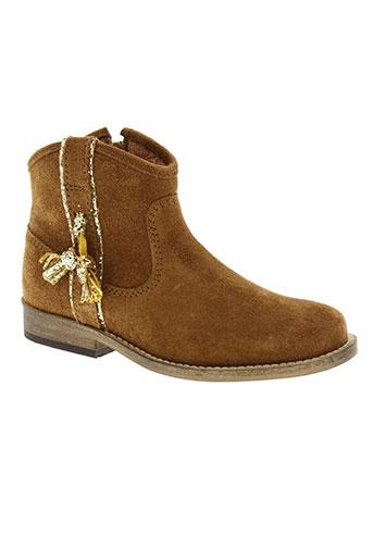 mellow yellow chaussures fille de couleur marron